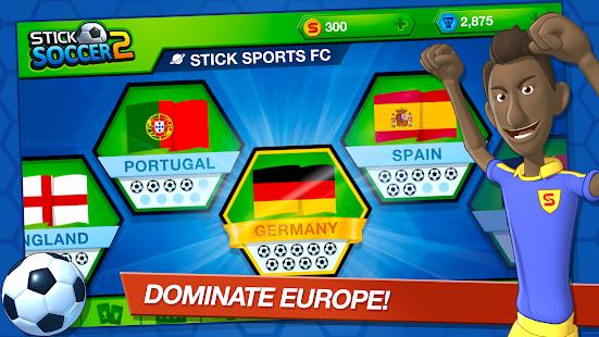 تحميل لعبة Stick Soccer 2 [مهكرة + APK] للاندرويد