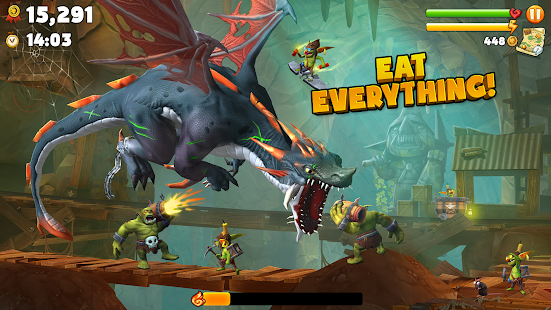 تحميل لعبة Hungry Dragon™ [مهكرة + APK] للاندرويد